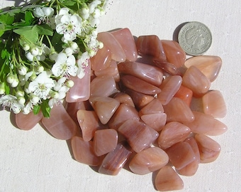 10 Peach Aventurine Crystal Tumblestones, Chakra Crystals, Crystal Collection, Orange Crystals, Libra, Meditation Stone, Worry Stone