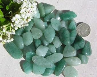 12 Green Aventurine Crystal Tumblestones, Crystal Collection, Chakra Crystals, Green Crystals, Aries Crystals. Reiki, Meditation Stone