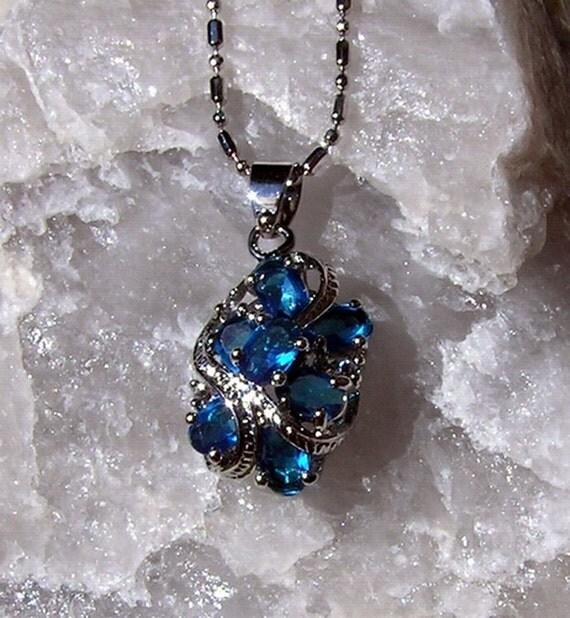 Blue Sapphire Pendant - Vintage - Special Offer