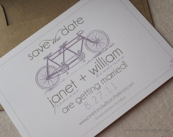 Tandem Bicycle Save The Date