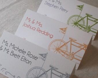 Vintage Tandem Bicycle Escort Cards