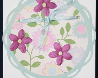 Purple Flower Circle All Occasion Card