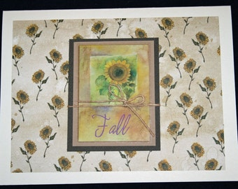 Fall Sunflower All Occasion Card