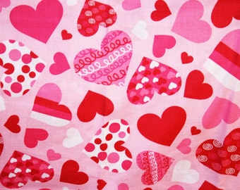 Decorated Valentine Hearts Pillowcase