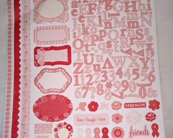 Think Pink Stickers from Making Memories