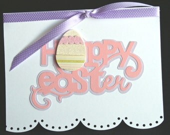 Scalloped Edge With Easter Egg Happy Easter Card