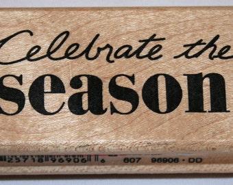 Celebrate the Season Rubber Stamp from Inkadinkado