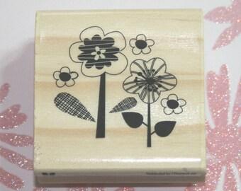 Flower Garden Rubber Stamp from Craftsmart