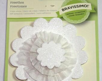 Bravissimo White Rosette Embellishment from Making Memories
