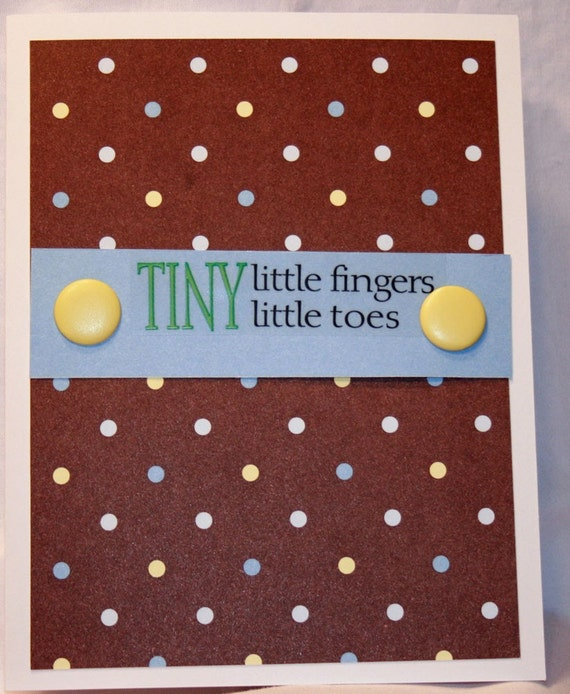 Tiny Little Fingers, Tiny Little Toes Baby Boy Card