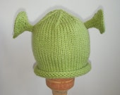 Free Shipping, Knit Ogre Hat, Avail. in sizes NB- Adult, Great Photo Prop
