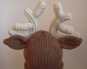 The Ultimate Reindeer Hat, Sizes 0-6 Months, 6-12 Months, 12-18 Months, 2-3 T, 4-6 Years, Oh Dear There's a Reindeer on your Head  Christmas Hat Rein Deer
