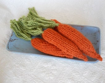 Carrot, Hand Knit Prop for your Easter Bunny Rabbit Photo Shoot, Spring Vegetable, Chunky Wool Buy 3 Get 1 Free