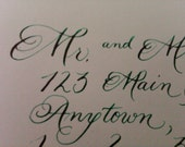 Deposit for Emily L.. - Custom Calligraphy for Invitation Envelopes