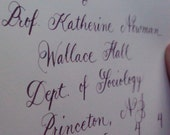 Balance Due for Hilary L. - Calligraphy Order