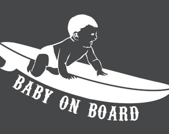 Baby on Board Surf Decal
