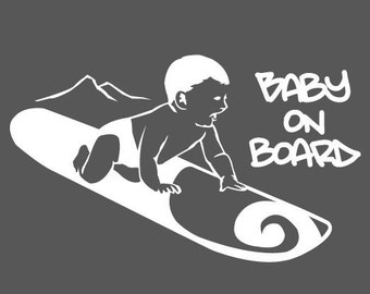 Baby on Board Snowboard Decal