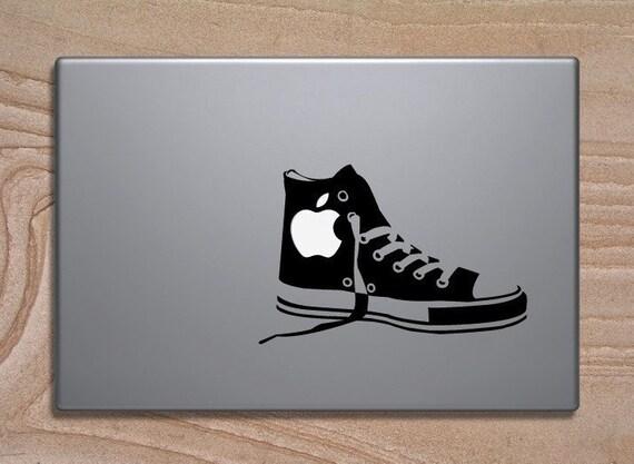 Mac Chucks vinyl decal for laptop