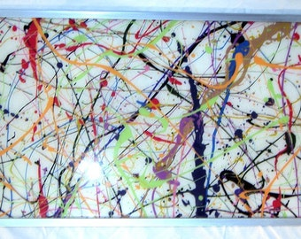 Jackson Pollock Serving Tray