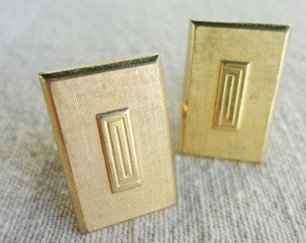 vintage accessory for man vintage SWANK cuff links in a goldtone