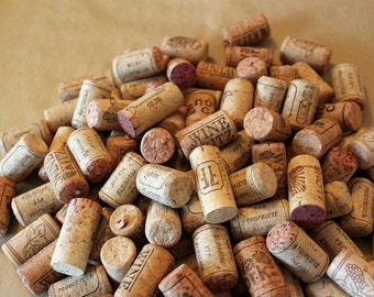 200 used natural wine corks for craft or decor - no synthetics