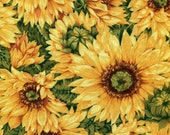 Sunflowers and Green Ribbon  -  Reversible Bun Warmer