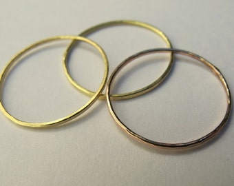 solid 14 k stackable rings Reserved for Becky