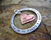 Poem Quote Pendant - I Carry Your Heart
