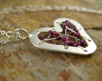 Stitched Heart Necklace
