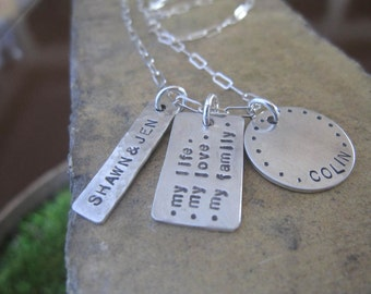 Custom Family Names Necklace