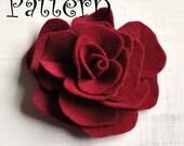 Rose Tutorial Pattern Brooch  Headband Felt Flower PDF ebook How To