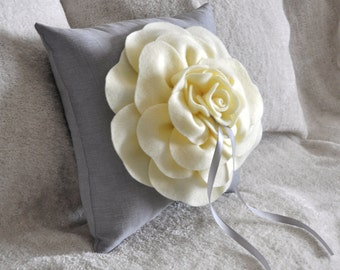 Ring Bearer Pillow -Rose Ring Pillow- You pick your colors-