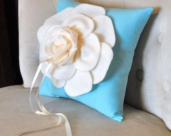 Custom Ring Bearer Pillow -Rose Ring Pillow- You pick your colors- Wedding Pillows wedding colors