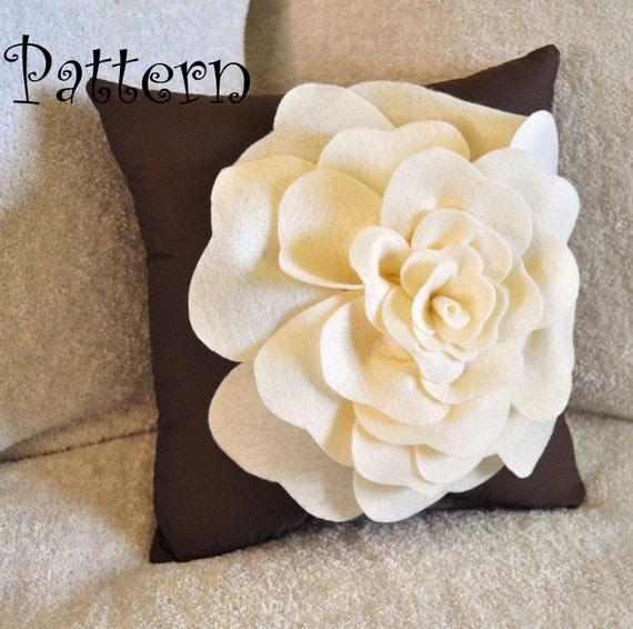 Large Felt Rose with BONUS Pillow PDF Pattern Tutorial Flower