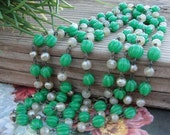 VINTAGE....0ver 100 years old....Glass beaded necklace Fabulous find...Must check it out...