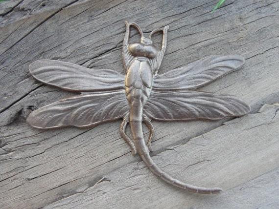 Vintaj brass....Art Deco Dragonfly Pendant // 1 pcs.