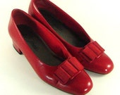 Dorothy's Ruby Red Bow Shoes Size 8