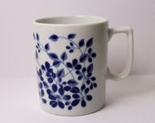 SALE Vtg Japan Blue and White flower Cup
