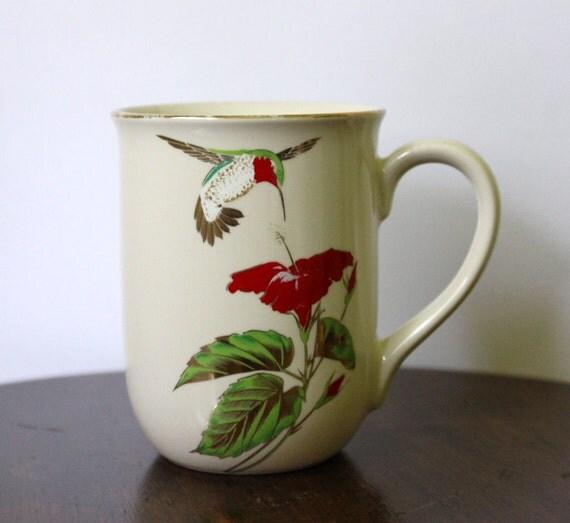 SALE Vtg Japan Otagiri Hummingbird Mug
