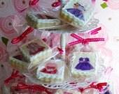 20 Vintage Paper Doll Girl Tea Party Cookies