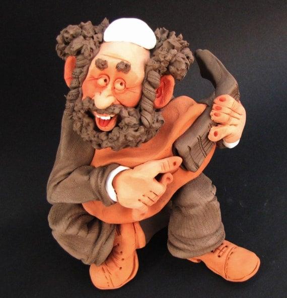 Jewish Kleysmer With Guitar