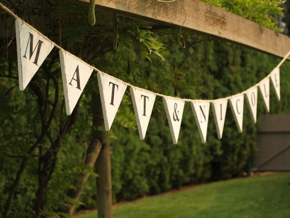 custom wedding bunting pennant flag banner garland sign