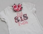 Big Sister Shirt and Hairbow with PERSONALIZATION - You CHOOSE size