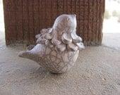 Ceramic Bird Handmade Raku Pit Fired Feathery Chick 22