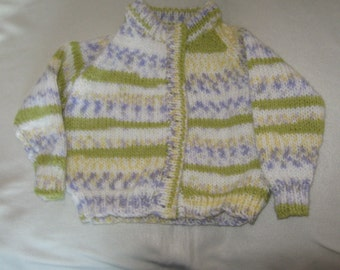 a chunky knit cardigan