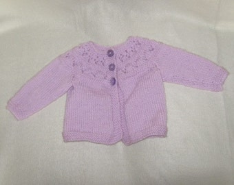 a light purple babys jacket
