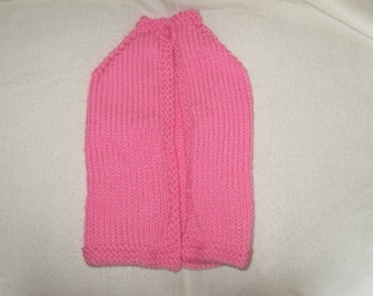 pink chunky babys cape 0-12months