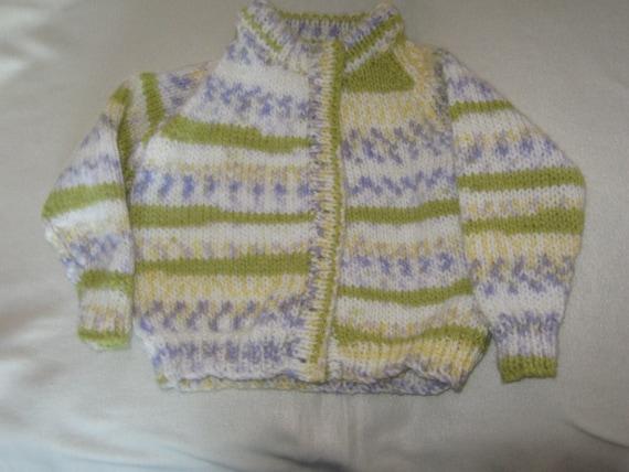 a chunky knit cardigan