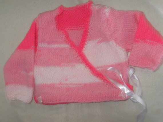 a pink ballet cardi