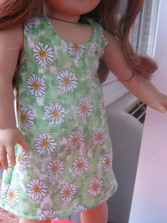 American Girl Clothes, Green Daisy Dress